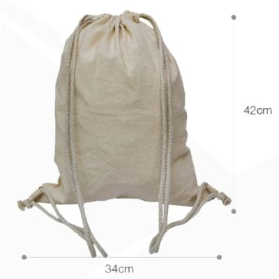 CB09 natural cotton drawstring bag 2019 29 beige 400x400 - 5oz Cotton Canvas Drawstring Bag CB09
