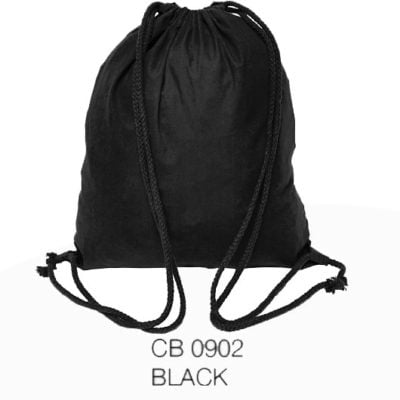 CB09 natural cotton drawstring bag 2019 29 black 400x400 - 5oz Cotton Canvas Drawstring Bag CB09