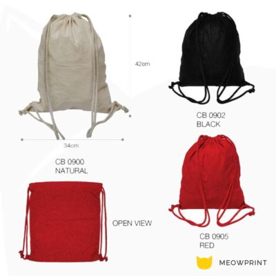 CB09 natural cotton drawstring bag 2019 29 catalogue 400x400 - 5oz Cotton Canvas Drawstring Bag CB09