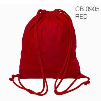 CB09 natural cotton drawstring bag 2019 29 red 400x400 - 5oz Cotton Canvas Drawstring Bag CB09