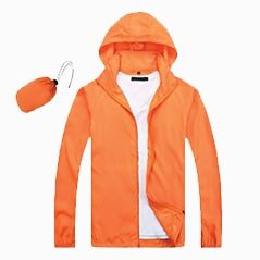 Lightweight Microfiber Jacket 2019 20 orange - Lightweight Microfiber Jacket (In-A-Bag)