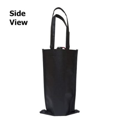 NW18 Non woven Wine bag 2019 20 side view 400x400 - Single Bottle Non-Woven Wine Bag NW18