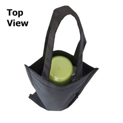 NW18 Non woven Wine bag 2019 20 top view 400x400 - Single Bottle Non-Woven Wine Bag NW18