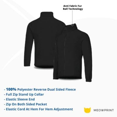 OWC45 BEAM Collar Fleece Zip-up Jacket 2019-20 details