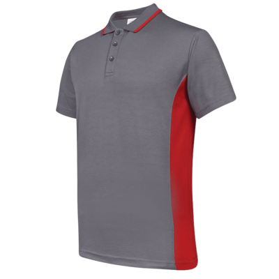 UCP13 Contra Anti-Odor Polo T-Shirt grey red (1)