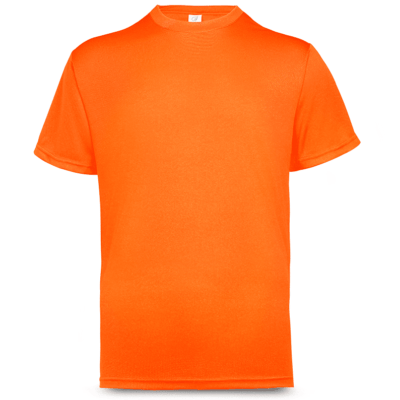 UDF01 Anti-Odor Dri-Fit Eyelet T-Shirts neon orange (2)