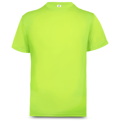 UDF01 Anti-Odor Dri-Fit Eyelet T-Shirts neon yellow (2)