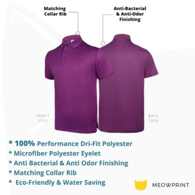 UDF05 Anti-Odor Dri-Fit Polo T-Shirts 2019-20 details