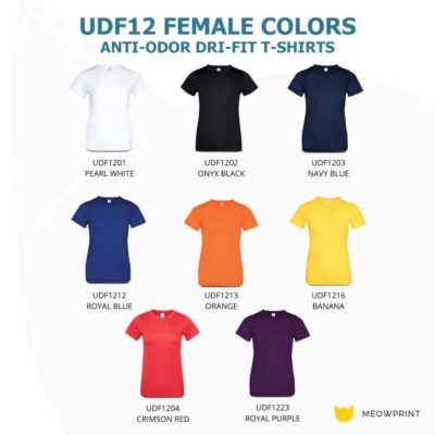 UDF12 Anti-Odor Dri-Fit Eyelet T-Shirts 2019-20 catalogue female