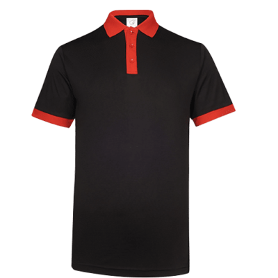 UDF15 Freedom Anti-Odor Polo T-Shirt black red (3)