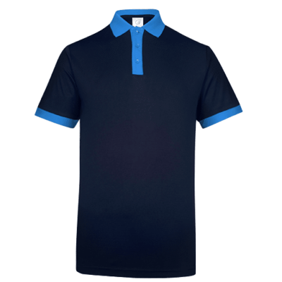 UDF15 Freedom Anti Odor Polo T Shirt navy royalblue 3 400x400 - UDF15 Freedom Anti-Odor Polo T-Shirt