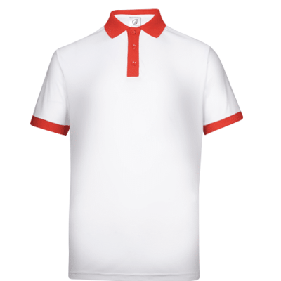 UDF15 Freedom Anti-Odor Polo T-Shirt white red (1)
