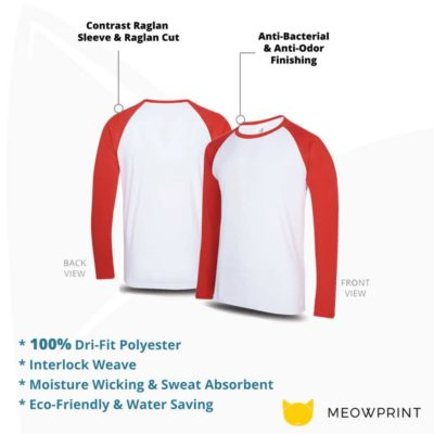 UDF16 Dri-Fit Raglan Long Sleeve T-Shirts 2019-20 details