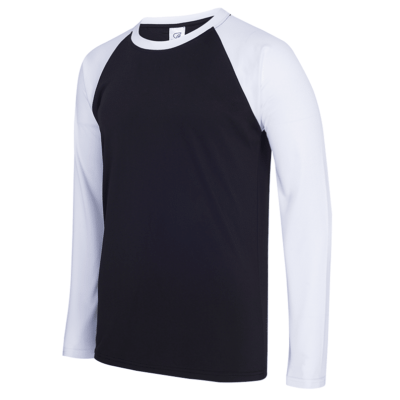 UDF16 Dri-Fit Raglan Long Sleeve T-Shirts black white (1)