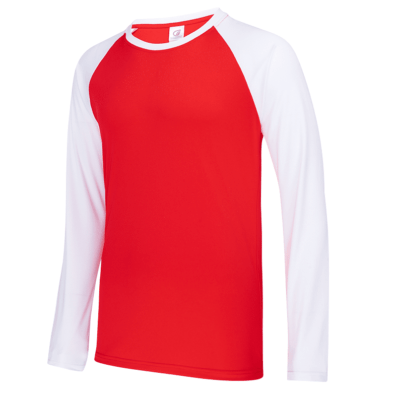 UDF16 Dri-Fit Raglan Long Sleeve T-Shirts red white (1)