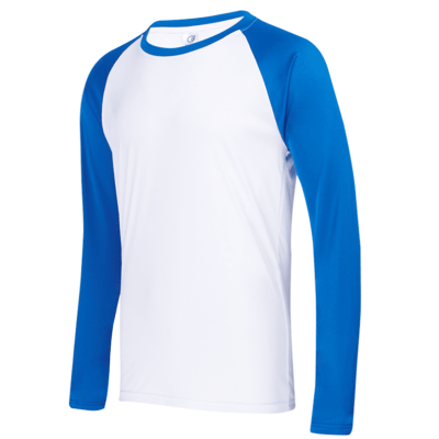 UDF16 Dri-Fit Raglan Long Sleeve T-Shirts white blue (3)