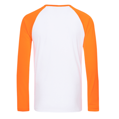 UDF16 Dri-Fit Raglan Long Sleeve T-Shirts white orange (2)