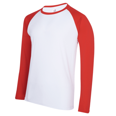 UDF16 Dri-Fit Raglan Long Sleeve T-Shirts white red (1)