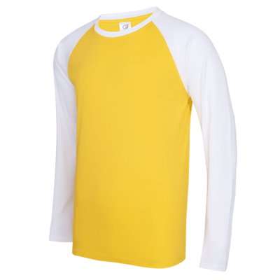 UDF16 Dri-Fit Raglan Long Sleeve T-Shirts yellow white (3)