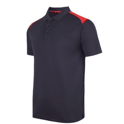 UDF19 T-Max Anti-Odor Polo T-Shirt black red (1)
