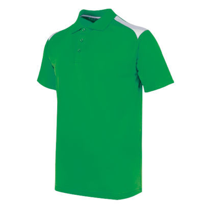 UDF19 T-Max Anti-Odor Polo T-Shirt green white (1)