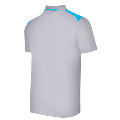 UDF19 T-Max Anti-Odor Polo T-Shirt grey lightblue (1)
