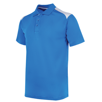 UDF19 T-Max Anti-Odor Polo T-Shirt royalblue grey (1)