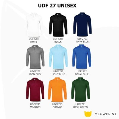 UDF27 Anti-Odor Dri-Fit Long-Sleeve Polo T-Shirts 2019-20 catalogue