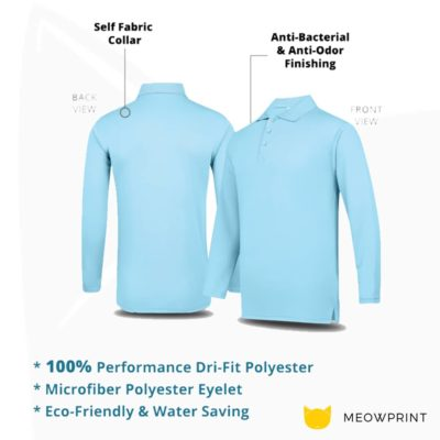 UDF27 Anti-Odor Dri-Fit Long-Sleeve Polo T-Shirts 2019-20 details