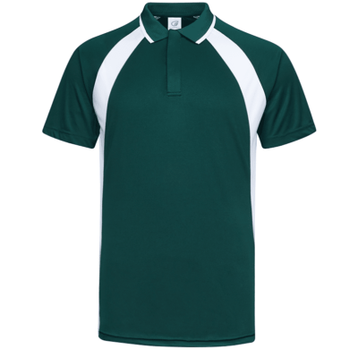 UDF33 Bi-Cross Anti-Odor Polo T-Shirt green white (2)