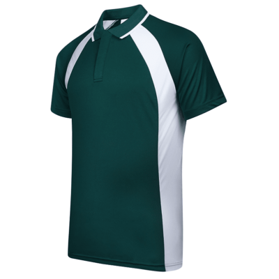 UDF33 Bi-Cross Anti-Odor Polo T-Shirt green white (3)