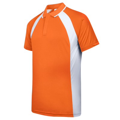 UDF33 Bi-Cross Anti-Odor Polo T-Shirt orange white (3)