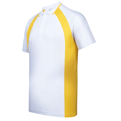 UDF33 Bi-Cross Anti-Odor Polo T-Shirt white yellow (1)