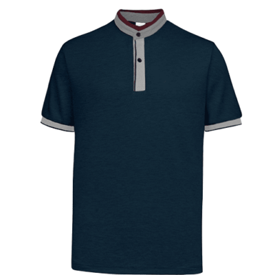 UH03 Ace Anti Odor Mandarin Collar Polo T Shirt navy grey red 1 400x400 - UH03 Ace Anti-Odor Mandarin Collar Polo T-Shirt