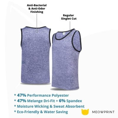 USJ01 Anti-Odor Heather Singlets 2019-20 details