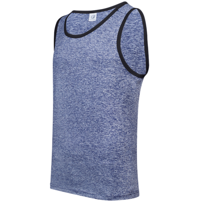 USJ01 Anti-Odor Heather Singlets navy blue (1)