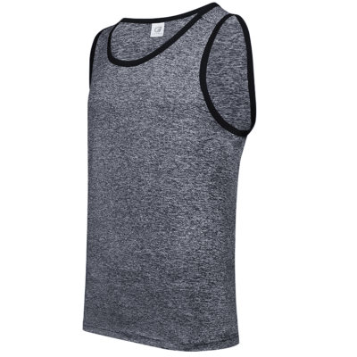 USJ01 Anti-Odor Heather Singlets onyx black (1)
