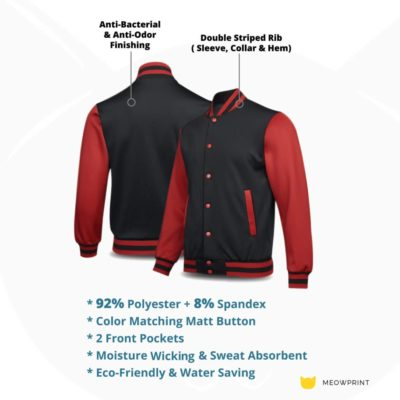 UVJ05 Anti Odor Varsity Jacket 2019 20 details 400x400 - UVJ05 Anti-Odor Varsity Jacket
