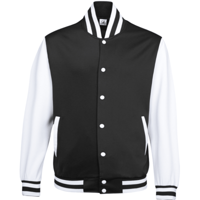 UVJ05 Anti Odor Varsity Jacket black 3 400x400 - UVJ05 Anti-Odor Varsity Jacket