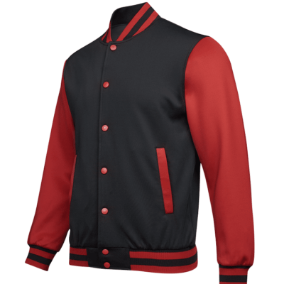 UVJ05 Anti Odor Varsity Jacket black red 1 400x400 - UVJ05 Anti-Odor Varsity Jacket