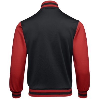 UVJ05 Anti Odor Varsity Jacket black red 2 400x400 - UVJ05 Anti-Odor Varsity Jacket