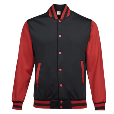 UVJ05 Anti Odor Varsity Jacket black red 3 1 400x400 - UVJ05 Anti-Odor Varsity Jacket