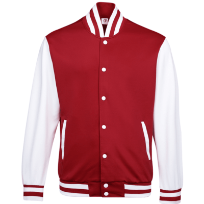 UVJ05 Anti Odor Varsity Jacket crimson red 3 400x400 - UVJ05 Anti-Odor Varsity Jacket