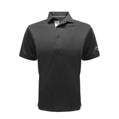 Callaway Solid Interlock Polo T-Shirts black