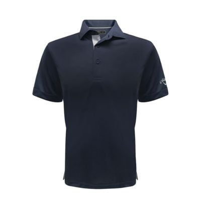 Callaway Solid Interlock Polo T-Shirts navy