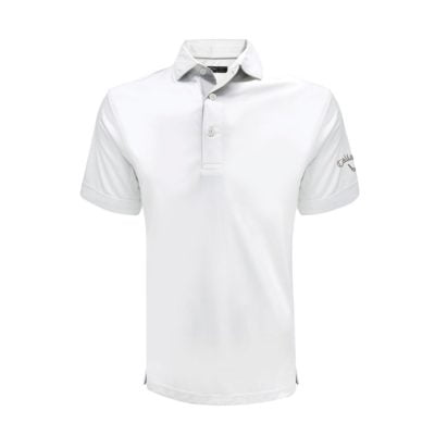 Callaway Solid Interlock Polo T-Shirts white