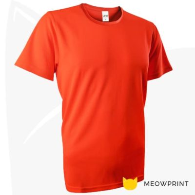 UNO Fresco Dri-Fit Round Neck T-Shirts 2020 neon orange
