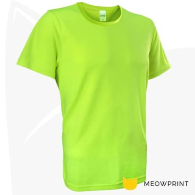 UNO Fresco Dri-Fit Round Neck T-Shirts 2020 neon yellow