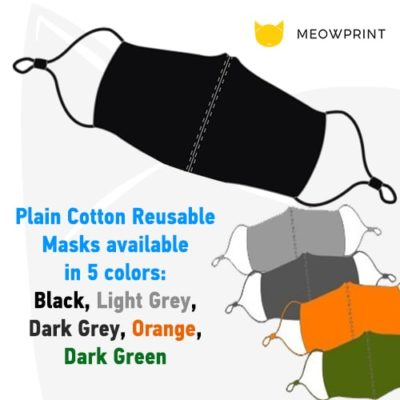 Customised Reusable Mask 2020 plain mask colors available