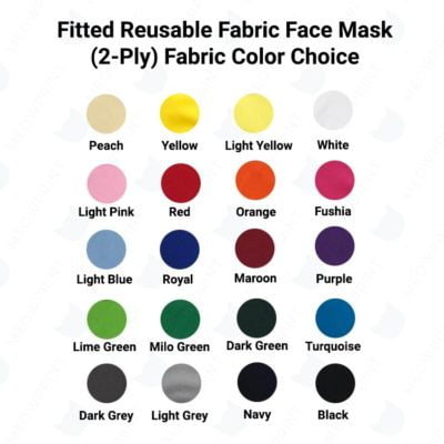 Fitted Reusable Fabric Face Mask fabric color v2